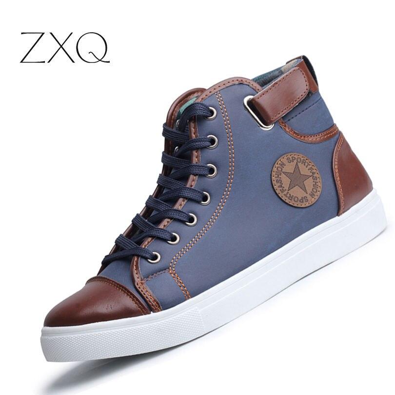 Plus Größe 38-47 Fashion High Top Männer Segeltuchschuhe Männer Freizeitschuhe Für Herbst Winter Männlichen Schuhe Patchwork Drop Verschiffen