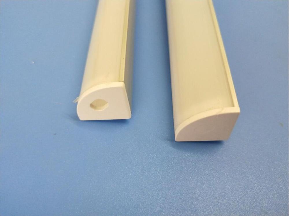 perfil de aluminio para a tira mais popular difusa anodizado limpar cover 04