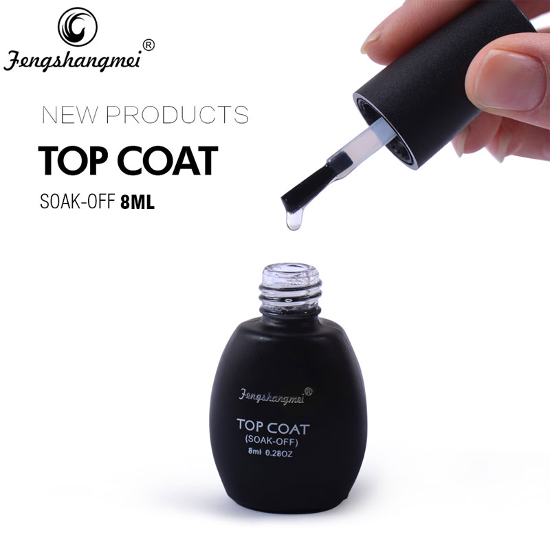 Fengshangmei 8ml Diamond Top Coat UV-geleide gel Nagellak Top Langdurige No Wipe Gel Top Coat