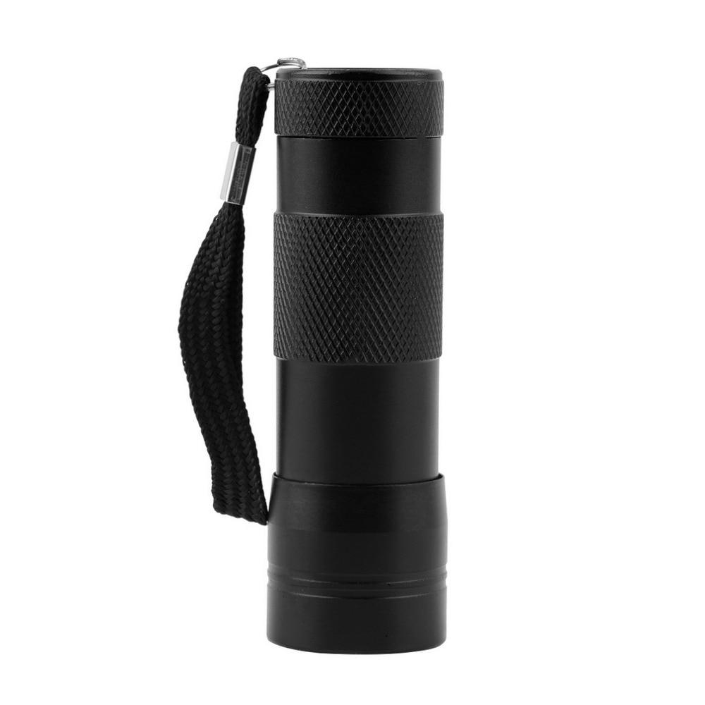 Алюминий Невидимый Blacklight чернила Маркер 12 светодиодный 12 Светодиодный УФ ультрафиолетовый мини Портативный фонарик факел свет лампы
