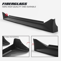 Car Accessories MBT2 Style FRP Fiber Glass Side Skirt Fiberglass 86 Door Step Cover Extension Tuning Kit For Toyota AE86 Trueno