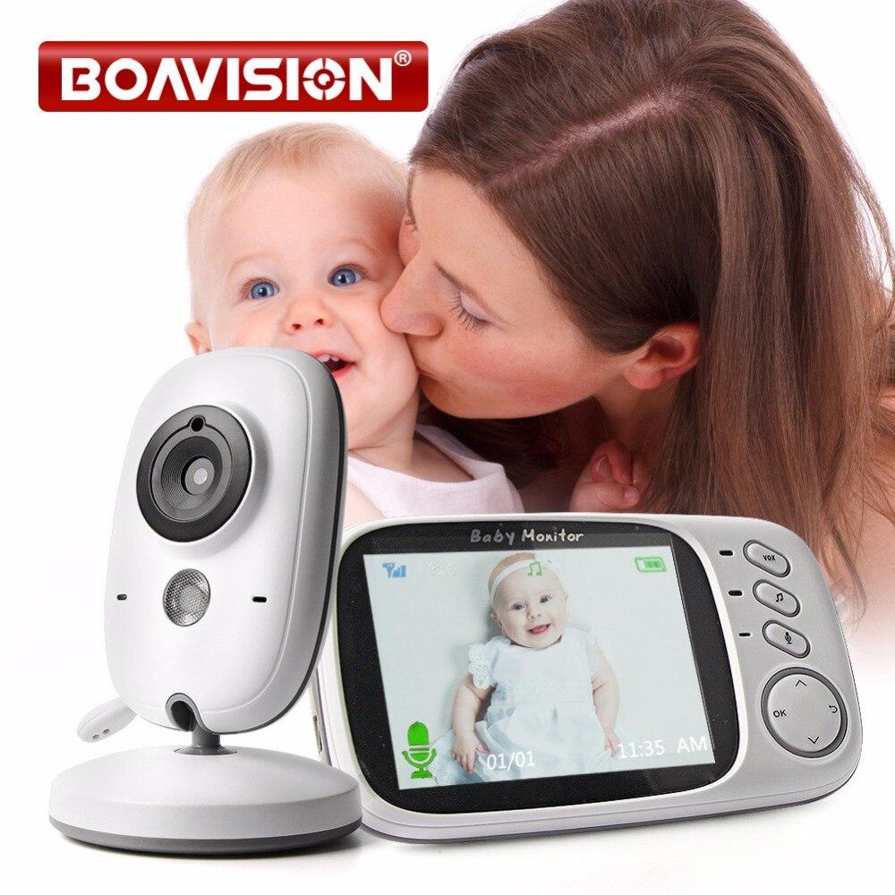 VB603 Monitor Do Bebê de Vídeo Sem Fio 2.4G Com 3.2 Polegadas LCD 2 Áudio Bidirecional Discussão Night Vision Câmera de Segurança de Vigilância babá