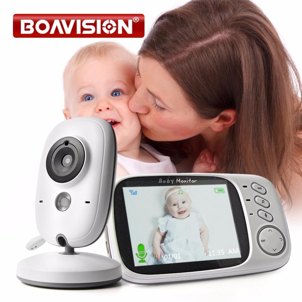 VB603 Video Baby Monitor 2,4g inalámbrico con 3,2 pulgadas LCD 2 Audio bidireccional Talk visión nocturna cámara de vigilancia de seguridad niñera