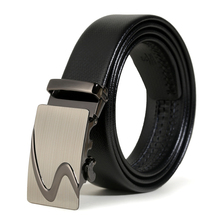 2019 Hot Men Popular Durable Belts Luxury Leather Waist Straps for Business Casual Good Quality Auto Buckle Fashion Male Belts