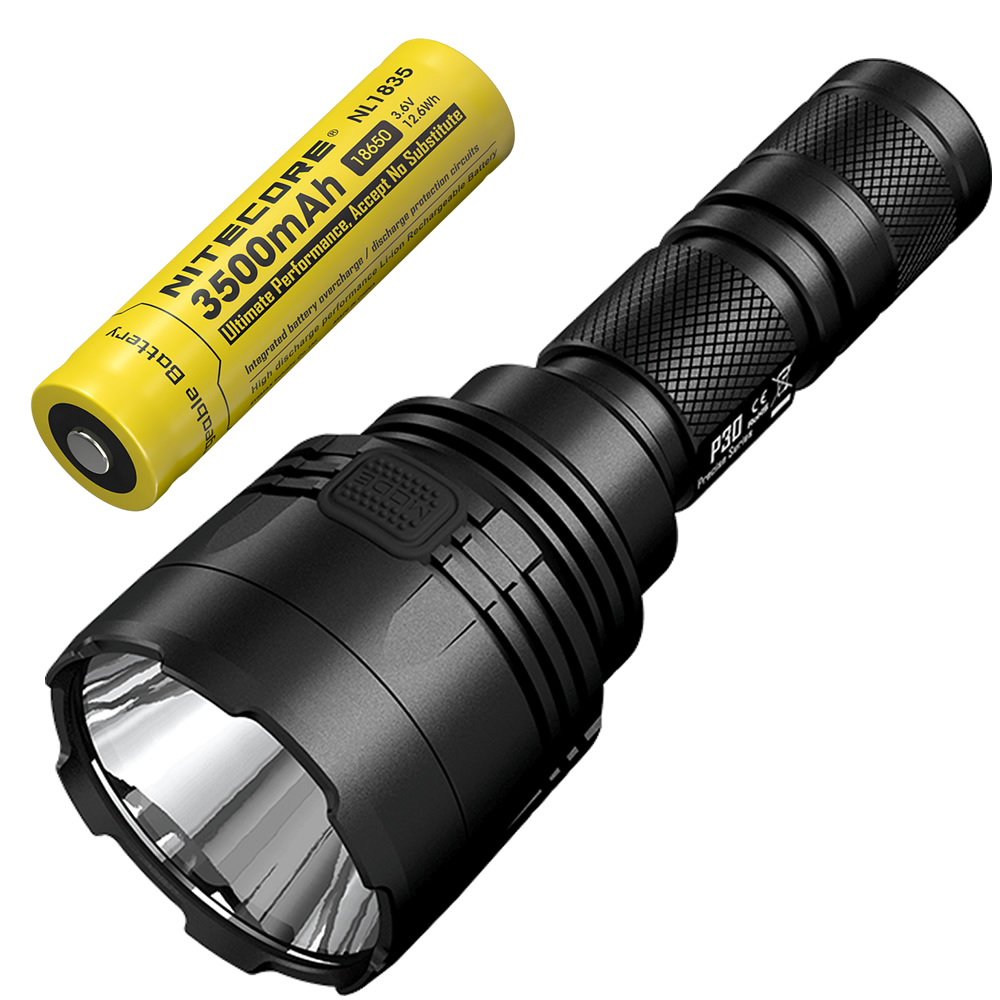 NITECORE P30 1000Lumen Long range Tactical Flashlight with 18650 Battery Outdoor Hunting Waterproof Portable Torch Free