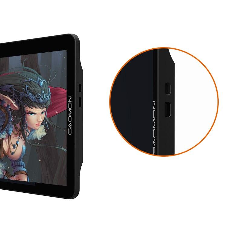 Moniteur de tablette graphique gapacket PD1560 15.6 pouces IPS HD Art 8192 levier affichage de stylo de sensibilité à la pression et gant de tablette de dessin - 4