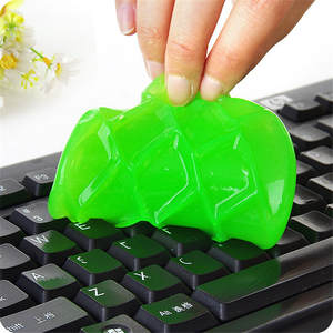 2019 Glue For Slim Funny Toy Dust Cleaning Glue Slimy Wiper For Keyboard Laptop Car Cleaning Sponge Car Accessories magic slime