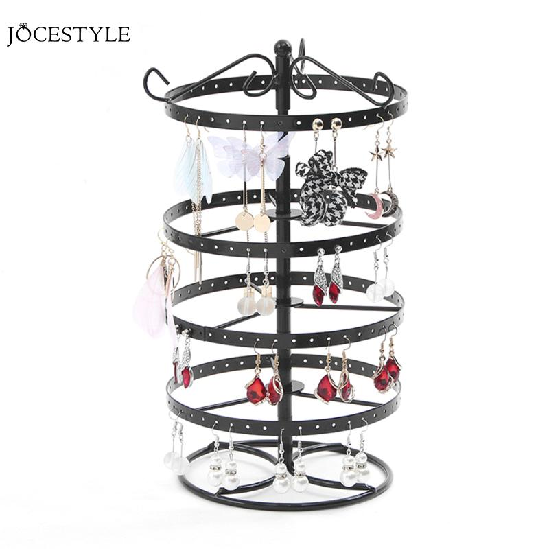 Multifunctional Metal Necklace Chain Bracelet Rotation Holder Detachable Earring Jewelry Display Stand Rack Hanger Holder