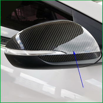 For Hyundai Elantra / Avante 2016 2017 2018 ABS Carbon Paint Color Exterior Door Side Wing Rearview mirror Cover Sticker Trim