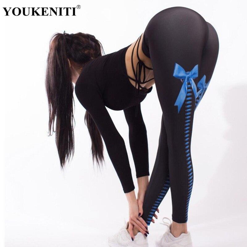 Youkeniti Sexy gamaše Ženske seksi hips Push Up hlače Legging Jegging Fitness gamaše-7687