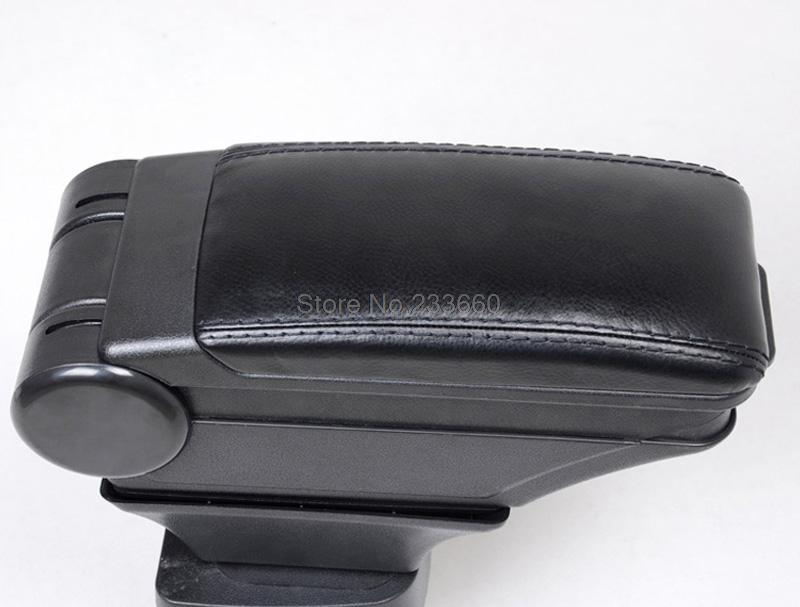 For Toyota Vios Yaris Sedan 2013 2014 Black Leather Plastic Armrest Console Arm Rest Box (Contact surface is dermic )