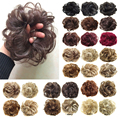New Arrive Women Synthetic Flexible Scrunchie Wrap For Wave Curly Hair Buns Chignon Extensions Black Blonde Brown 25 Colors 30g