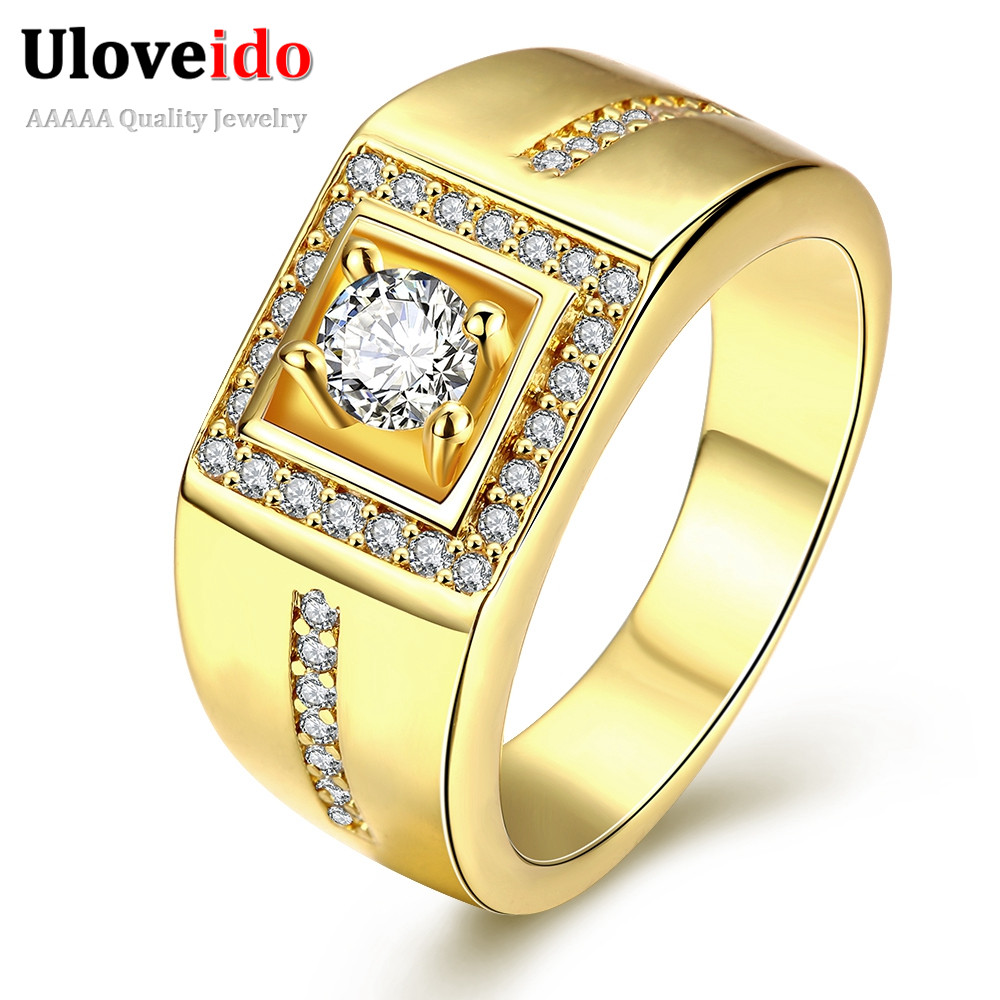 uloveido 5 off jewelry wedding rings for men square menu0027s rose gold color male ring