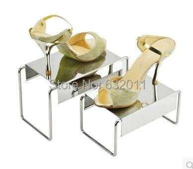 5 компл. Зеркальная нержавеющая сталь обувь поддержка держатель хранитель металл обувь показаны дисплей стойки