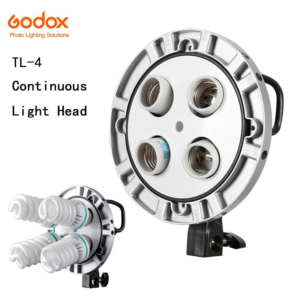 사진 스튜디오 Godox TL - 4 4in1 E27 소켓 3 색 전구 라이트 Speedring 램프 헤드 멀티 홀더 카메라 사진 조명