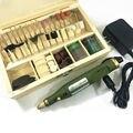Mini broca elétrica + 100 pcs moagem acessórios bag + adaptador máquina Multifunções Gravura Elétrica ferramenta set kit Frete Grátis