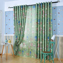 Rural Balloon Printing Half Shading Short Curtain ClothCurtains For Living Dining Room Bedroom
