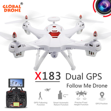 Global Drone X183 Dual GPS Drone Follow me dron 5 8G FPV font b RC b
