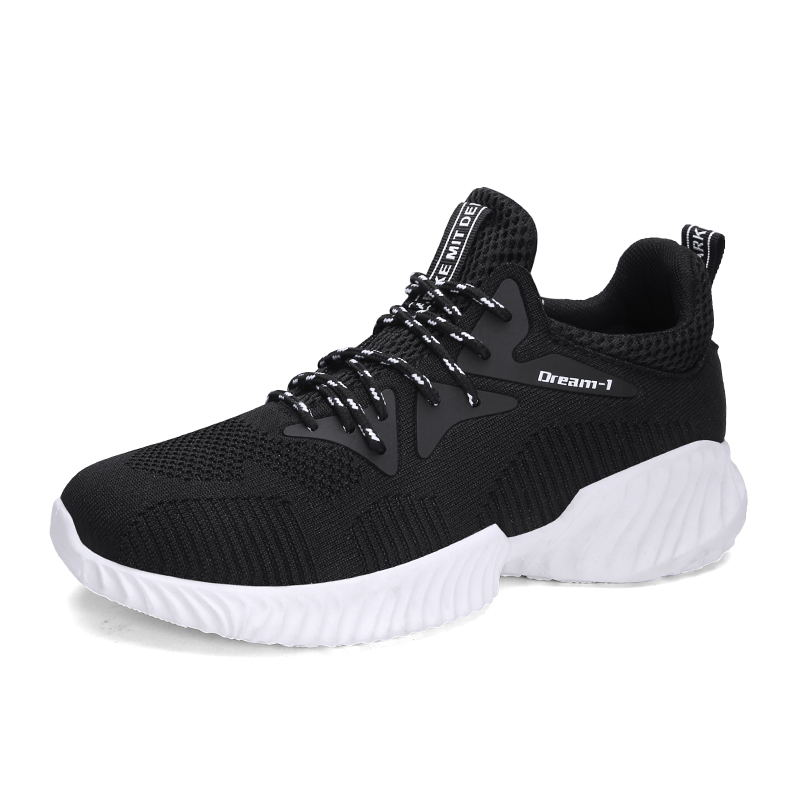 Hot four seasons paragraph Men sneakers Casual shoes For Adult Comfortable Lace-up Breathable soft fashion adult Non-slip