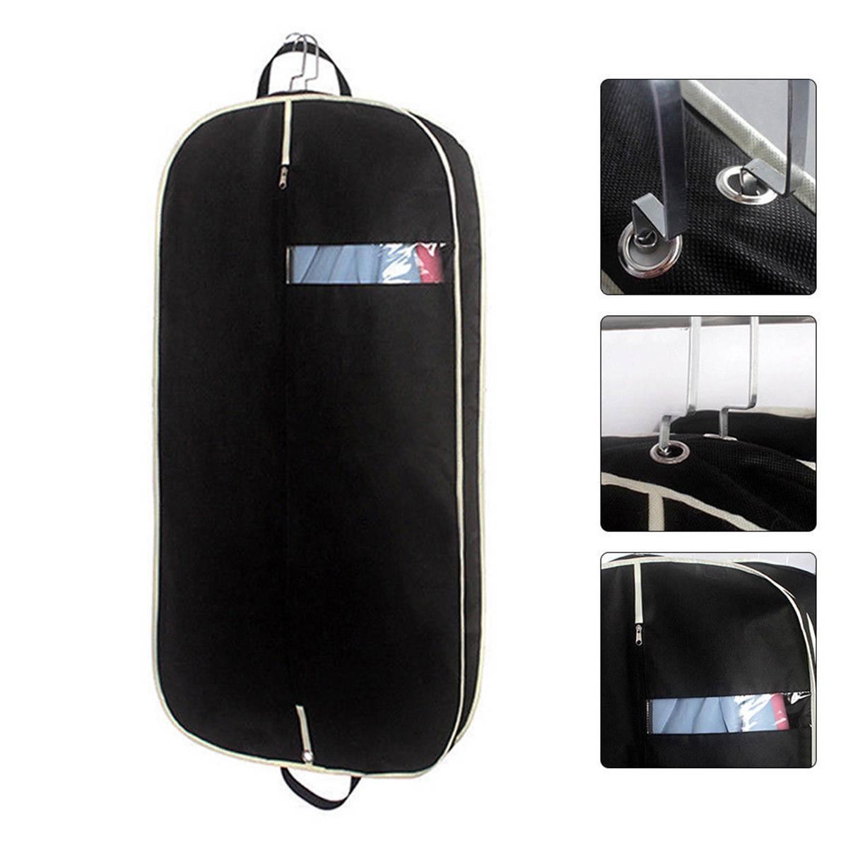 Men Suit Storage Bag Dustproof Hanger Organizer Travel Coat Clothes Garment Cover Case Accessories Supplies 60*110*10cm