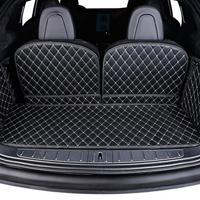 Car Trunk Mat Cargo Liner Rear Back Covers Waterproof Pad Protector For 2016 2018 Tesla Model X Interior Accessories