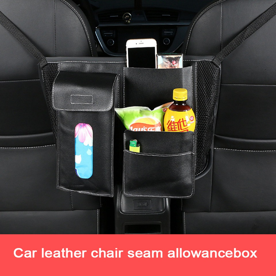 Car Back Seat Tidy Organiser Travel Storage Bag Organizer Muliti Pockets Holder Black KLM-1