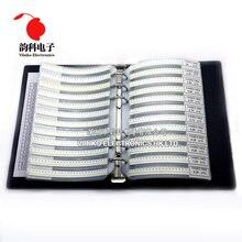 0402 SMD Điện Trở Sách Mẫu 1% Khoan Dung 170valuesx50pcs = 8500 Cái Điện Trở Bộ 0R ~ 10M 0R 10M