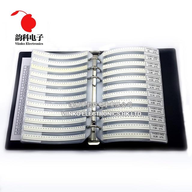 0402 Smd Resistor Esempio di Libro 1% di Tolleranza di 170valuesx50pcs = 8500 Pcs Resistor Kit 0R ~ 10M 0R 10M