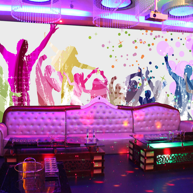 Free Shipping Custom 3D large scale mural personalized KTV dance hall bar waterproof non-woven wallpaper TV background mural free shipping personalized fashion figure puzzle 3d wallpaper salon bedroom wallpaper background bar ktv mural