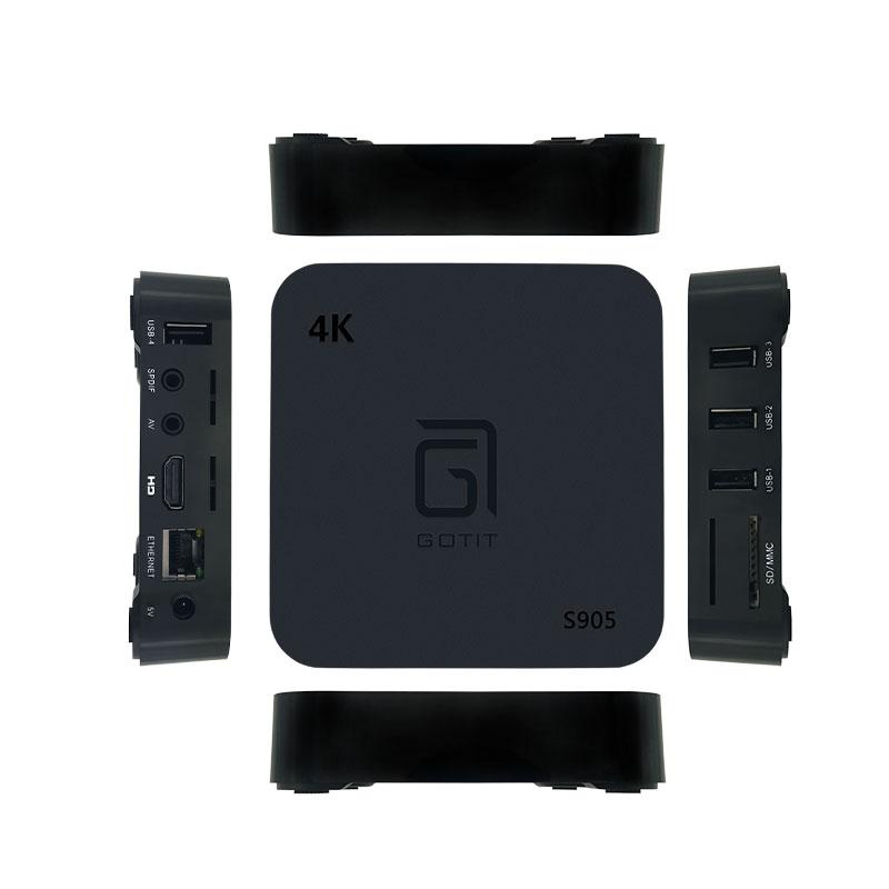 Gotit S905 Android Box 7 0 Latest Perfect Player Amlogic S905W TV Box 4K 1G  8G Quad Core 4K Wifi Smart TV Box Media Player m3u
