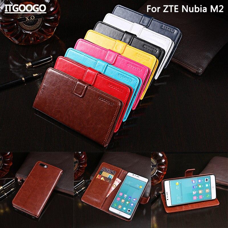Itgoogo para ZTE Nubia M2 caso cubierta 5.5 pulgadas Hight calidad Flip Funda de cuero para ZTE Nubia M2 cubierta móvil caja de la carpeta del bolso del teléfono
