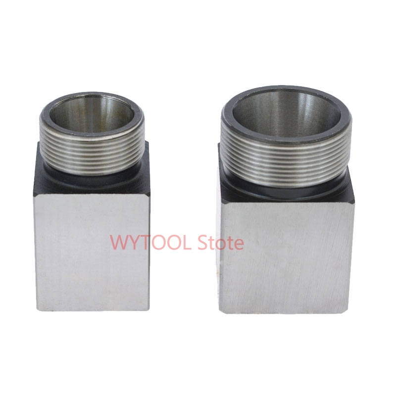 Image 5 - 1pcs square ER32 ER25 ER40 chuck block hard steel spring chuck seat, suitable for CNC lathe engraving and cutting machine-in Tool Holder from Tools