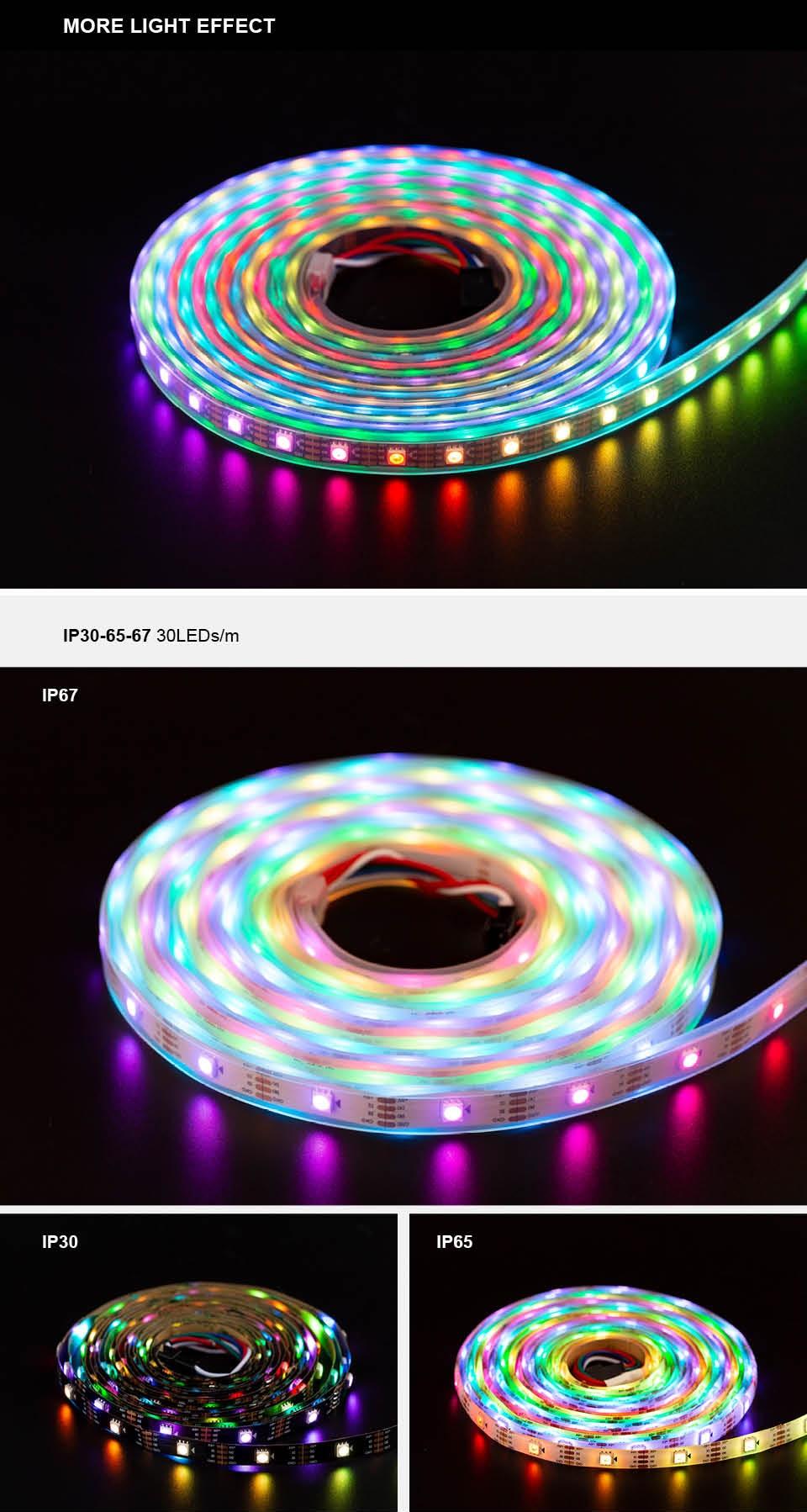 HTB1zUP6acnrK1RjSspkq6yuvXXaF WS2815 DC12V (WS2812B/WS2813) RGB LED Pixels Strip Light Individually Addressable LED Dual-Signal 1m/5m 30/60/144 Pixels/Leds/m
