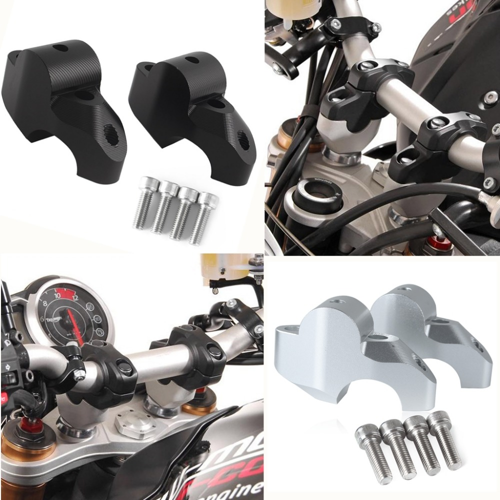 Handlebar Riser Up Backs Moves Bracket Kit For KTM 1050 1190 1190 1290 ADV Adventure Move Up 30mm Back 20mm Bar Clamp Mount in Covers Ornamental Mouldings from Automobiles Motorcycles