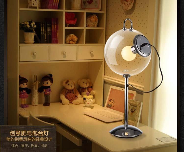 Transparent sphère boule effacer verre lampe de table moderne en