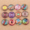 50 Pieces Lot Diy Handmade Round Dome Mix Photo Glass Cabochons 14mm For Earring Making