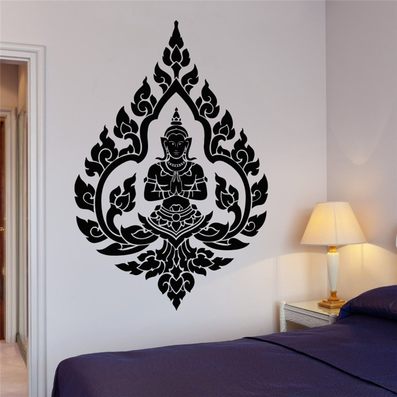 Black 16 x 16 Design with Vinyl JER 2328 2 Hot New Decals Pattern Wall Art Size x 16 Inches Color