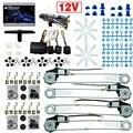 DC12V Do Carro/Auto Electronice kits de Janela de Poder Universal 4 Portas Com 8 pçs/set Swithces e Harness # CA2845