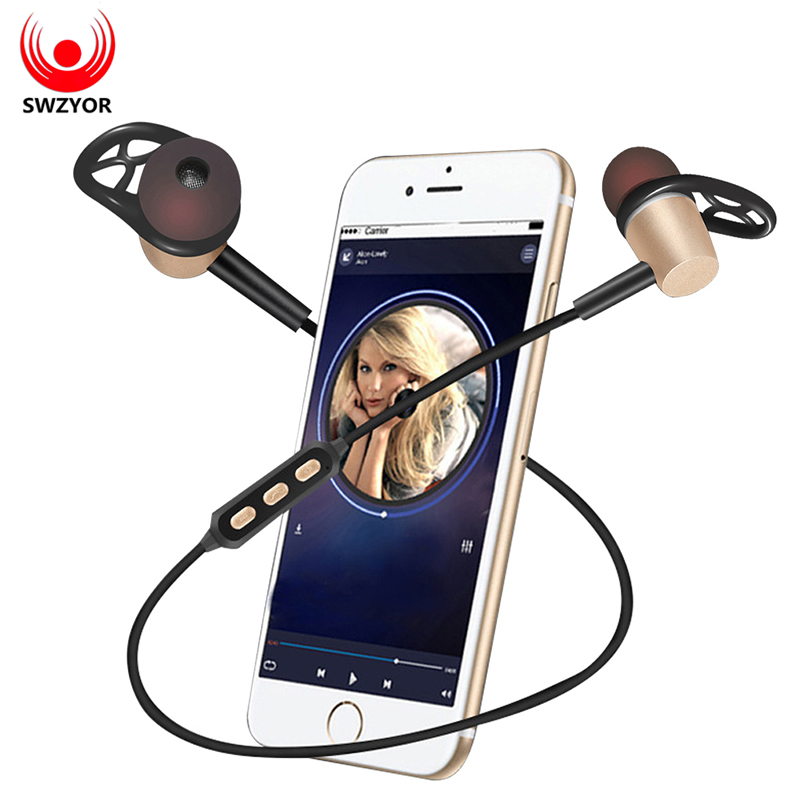 SWZYOR Y522 Earphone Sports Sweatproof Wireless Bluetooth 4 1 With Mic Stereo Bass Earphones Noise Canceling