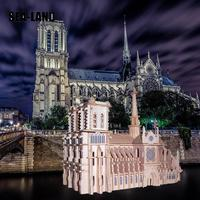 Children 3D Puzzle Toys Notre Dame De Paris World Famous Buildings Toy Model Wooden Puzzle High Quality Wood Gift For Children