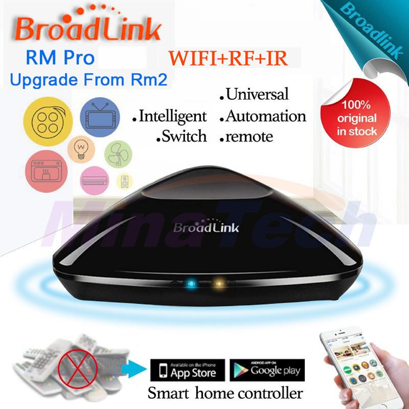 Prix pour Nouveau broadlink rm03 rm pro universal contrôleur intelligent, intelligent domotique, wifi + ir + rf interrupteur à distance pour iphone ios android