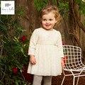 DB4033 dave bella primavera do bebê meninas vestido de princesa meninas vestido boutique