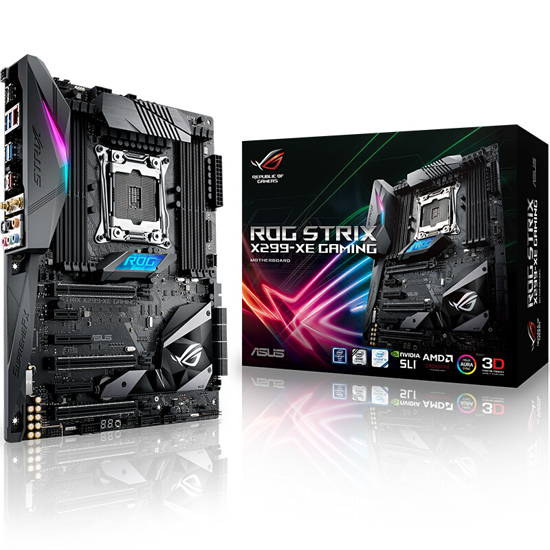 Asus ROG STRIX X299-XE GAMING Desktop Motherboard Intel X299 LGA 2066 DDR4 M.2 USB3.1 ATXmotherboard