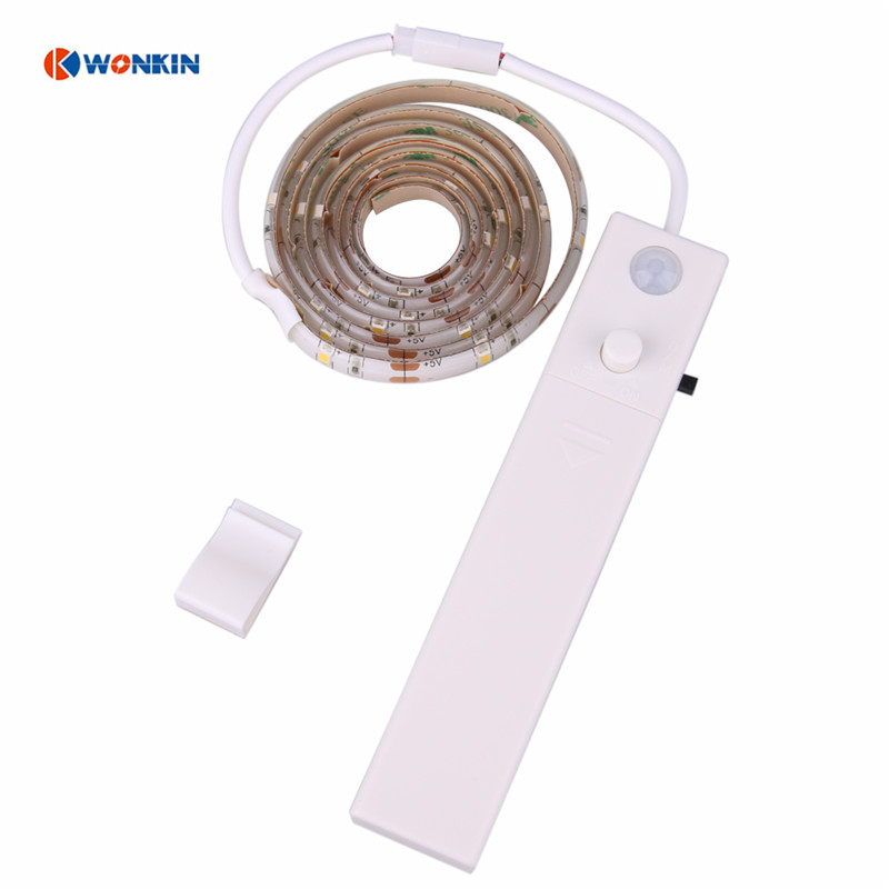 Led strip Motion Sensor Strip Closet Light for Car Boot Porch Led Night Light Led 2835 Led Light Strip Battery Powered 1meter ...