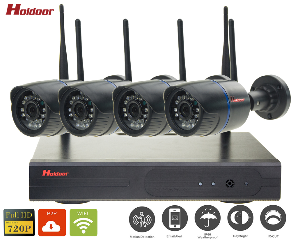 4ch nvr kit wifi cctv security camera system wireless. Black Bedroom Furniture Sets. Home Design Ideas