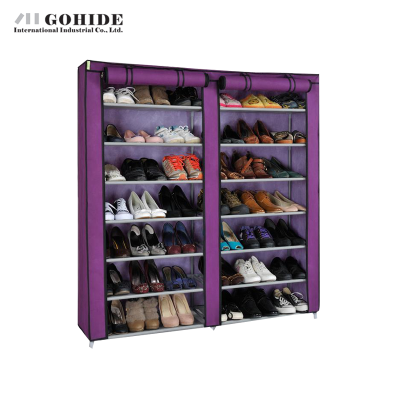JUH Double Door Combination Simple Shoe Rack Shelf Storage Closet Wd120124 Living Room Furniture Shoes Storage Furniture reinforcing steel double simple shoe storage rack assembly cheap thicker dust specials