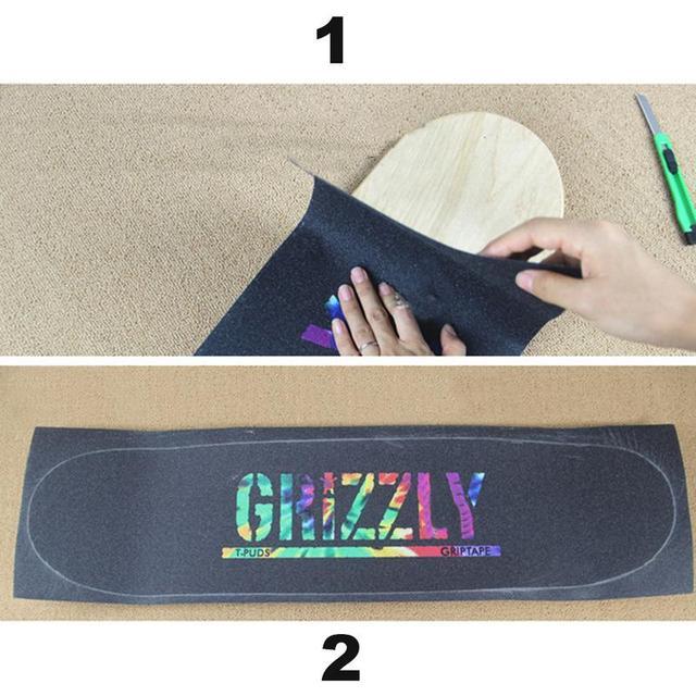 Bande de poignée de planche à roulettes importée papier de verre résistant à lusure épaississement anti-dérapant bande de poignée colorée de planche à roulettes