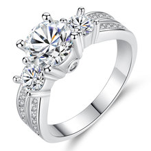 Anillos de boda de lujo de estilo clásico de plata CZ forma de X chapado en rodio Micro pavé romántico Zircon joyería para fiesta y boda