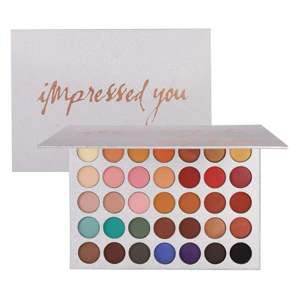 BEAUTY GLAZED Brand Makeup Eye Shadow Pallete Natashas Style Shimmer Glitter Matte Strelitzia Eyeshadow Palette Set