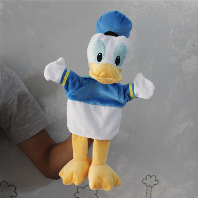 1pcs Originale di Mickey Mouse Burattino di Mano Paperino Minnie mouse Tigger Giocattoli di Peluche Burattino Regali dei capretti del bambino peluche